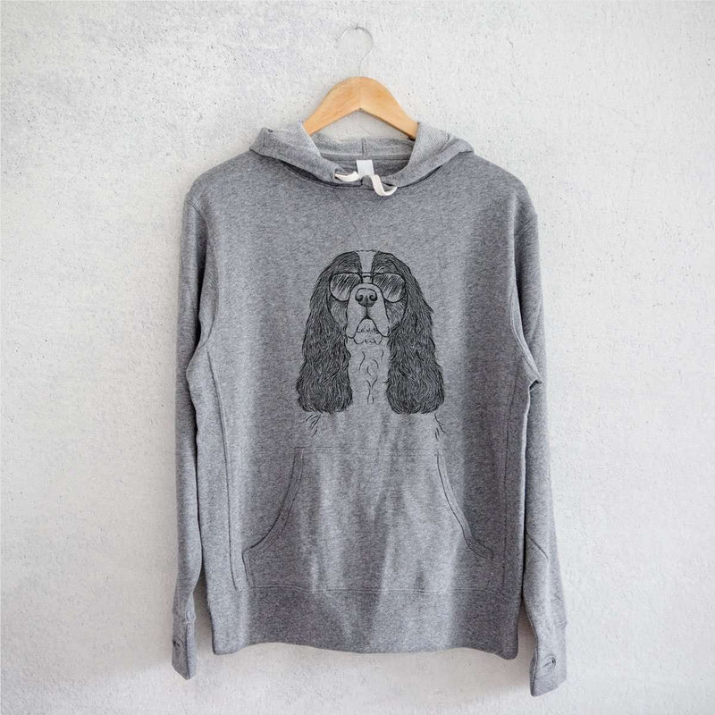 Sebastian the Cavalier King Charles Spaniel - Grey French Terry Hooded Sweatshirt