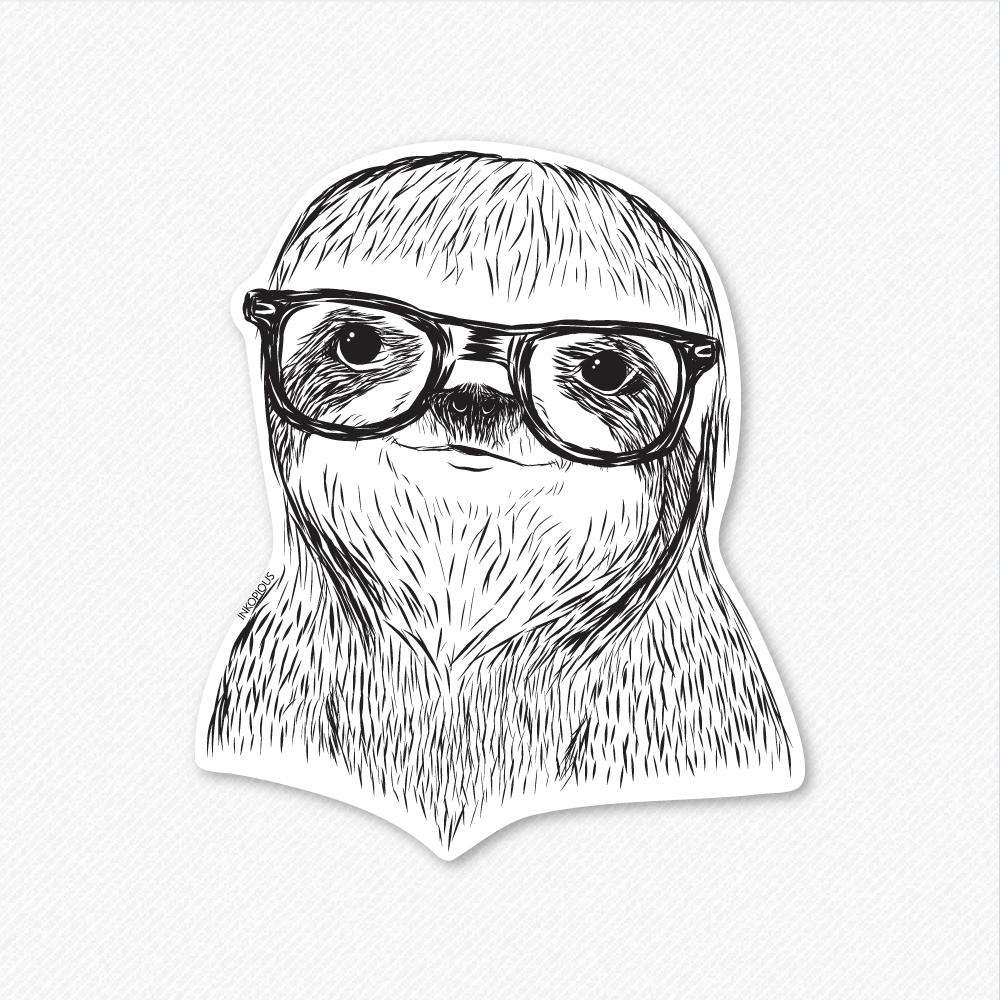 Sidney The Sloth Decal Sticker Inkopious