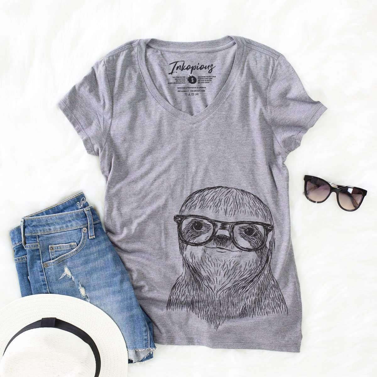 Sidney the Sloth - Women's Modern Fit V-neck Shirt