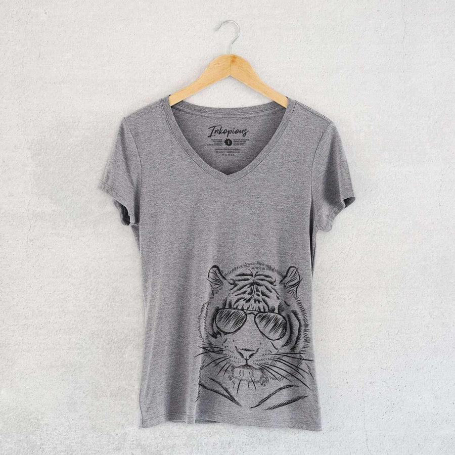 Taz the Tiger - Women's Modern Fit V-neck Shirt
