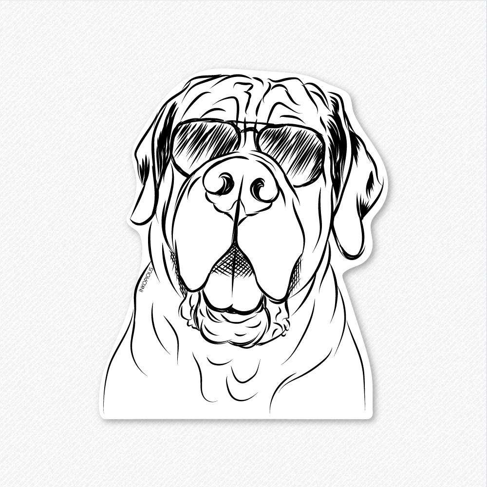 Tufton the English Mastiff - Decal Sticker
