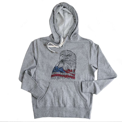 USA Eagle  - French Terry Hooded Sweatshirt