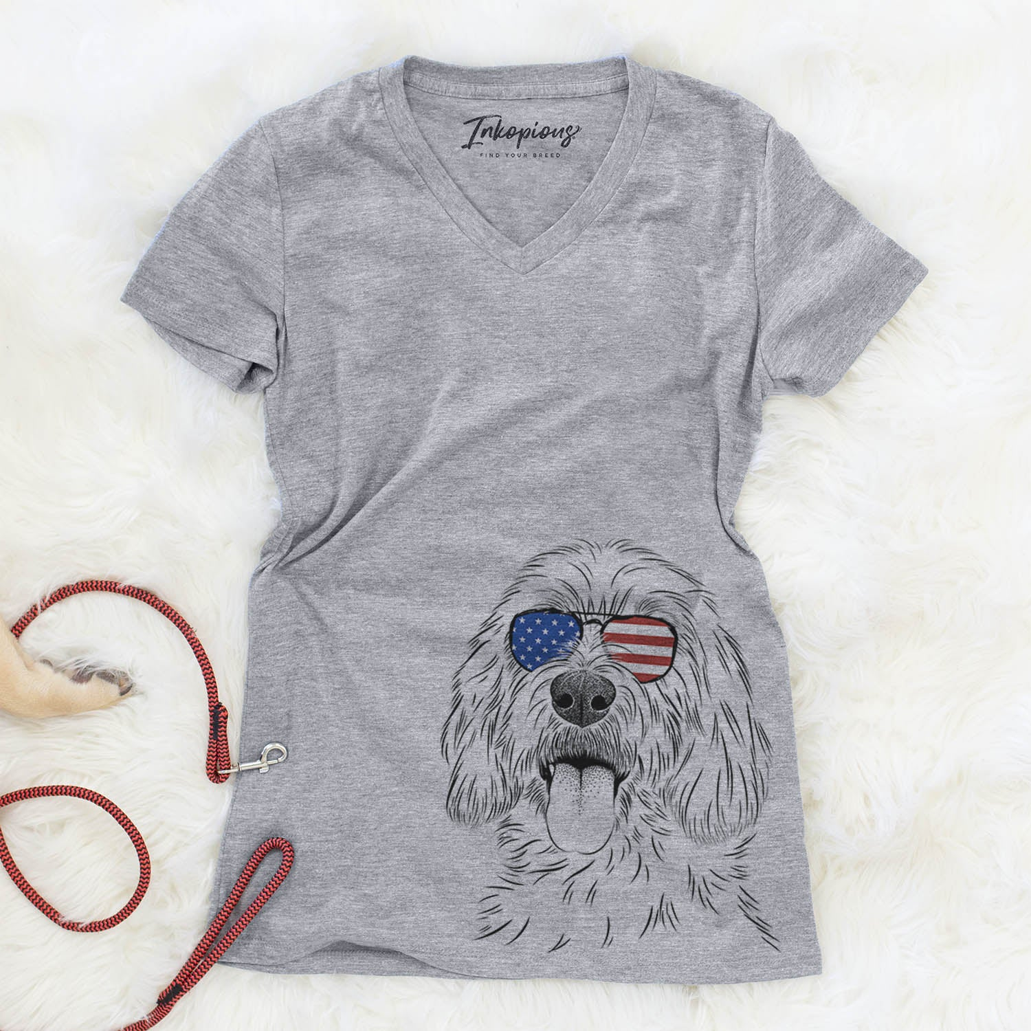 Homer the Grand Basset Griffon Vendeen  - USA Patriotic Collection