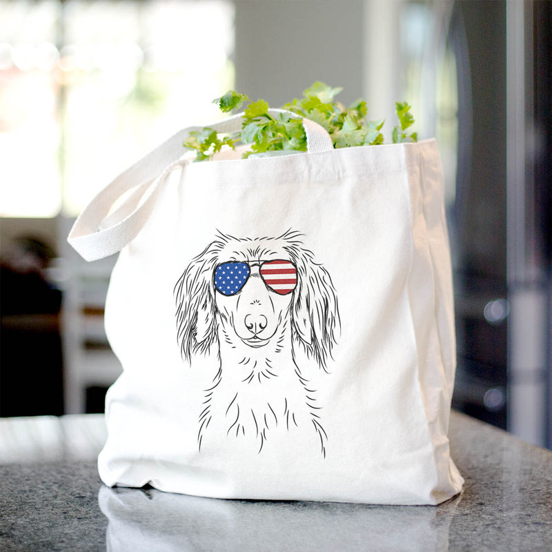 Roux the Long Haired Dachshund - Tote Bag