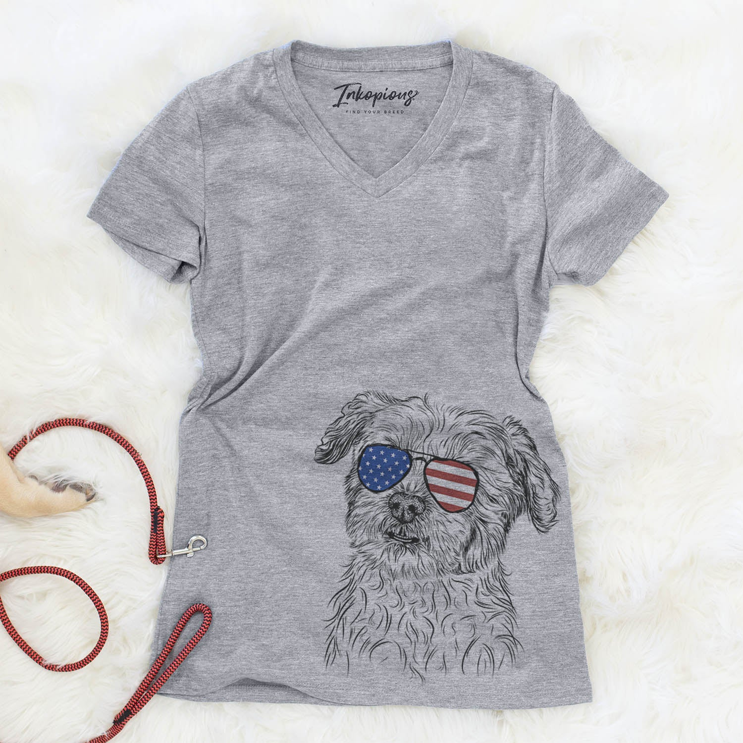 Roxie the Schnauzer Shih Tzu Mix  - USA Patriotic Collection