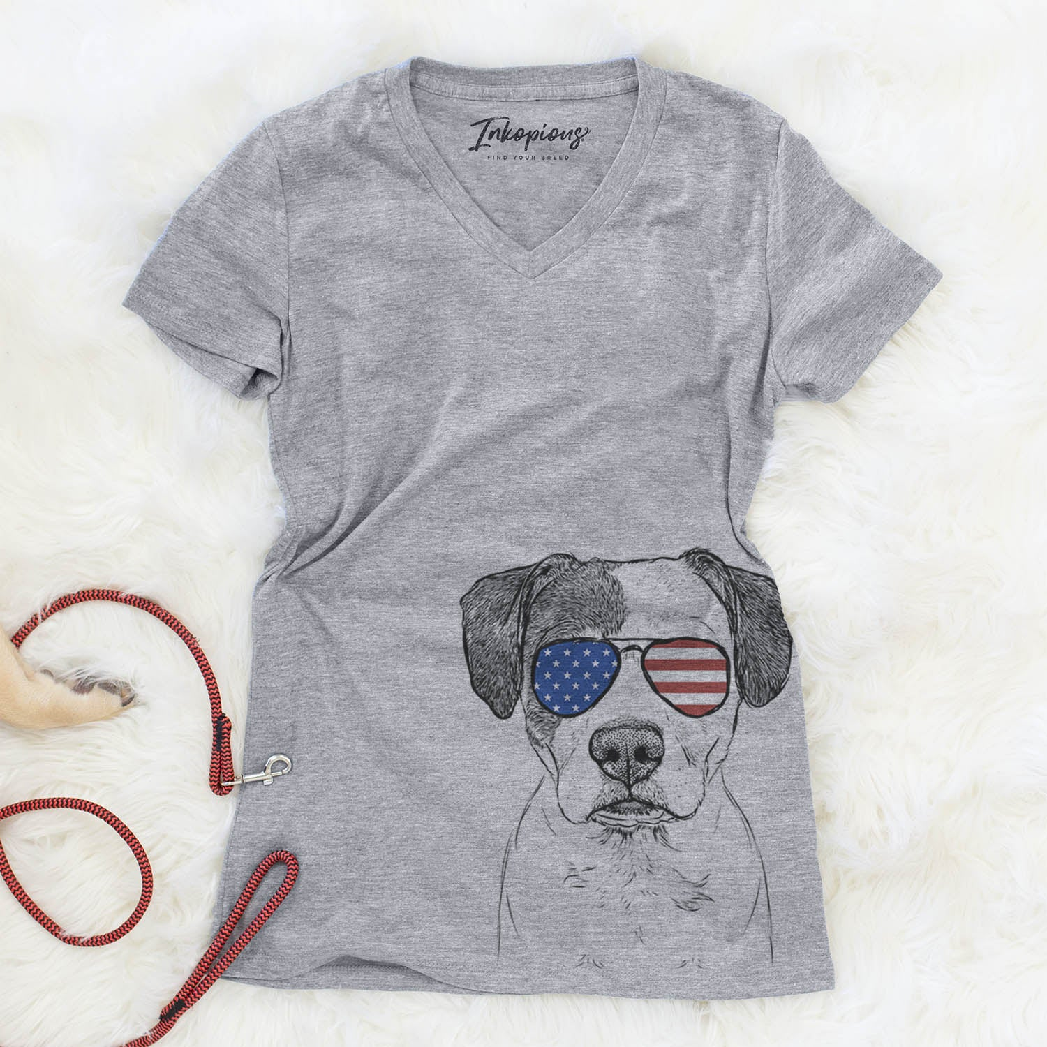Ryleigh the Beagle Pitbull Mix  - USA Patriotic Collection
