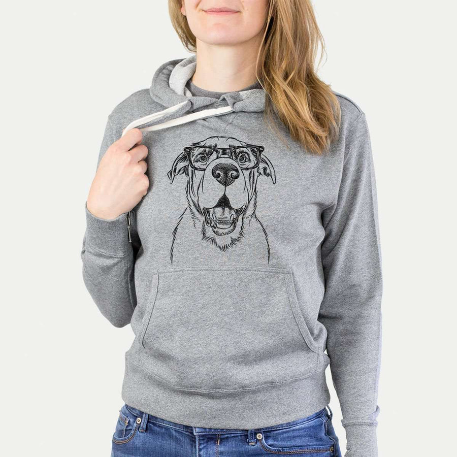 Wilson the Rottweiler Mix - Grey French Terry Hooded Sweatshirt