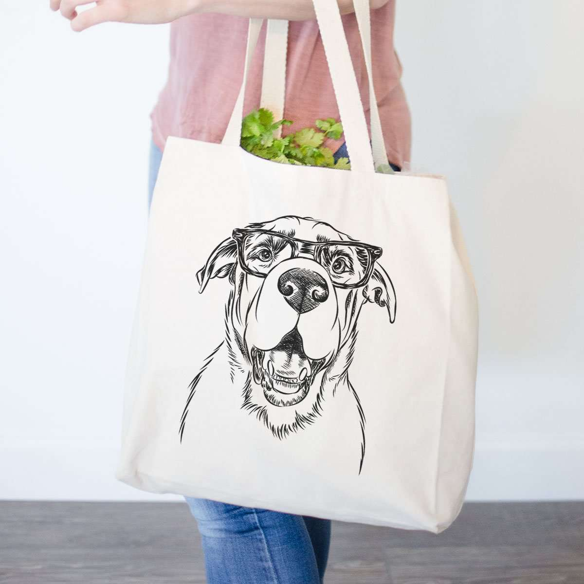 Wilson the Rottweiler Mix  - Tote Bag