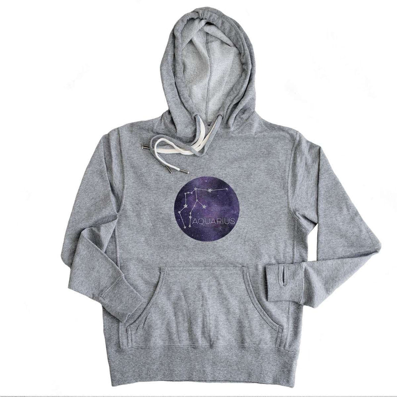 Aquarius Stars  - French Terry Hooded Sweatshirt