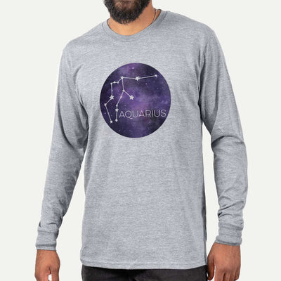 Aquarius Stars  - Long Sleeve Crewneck