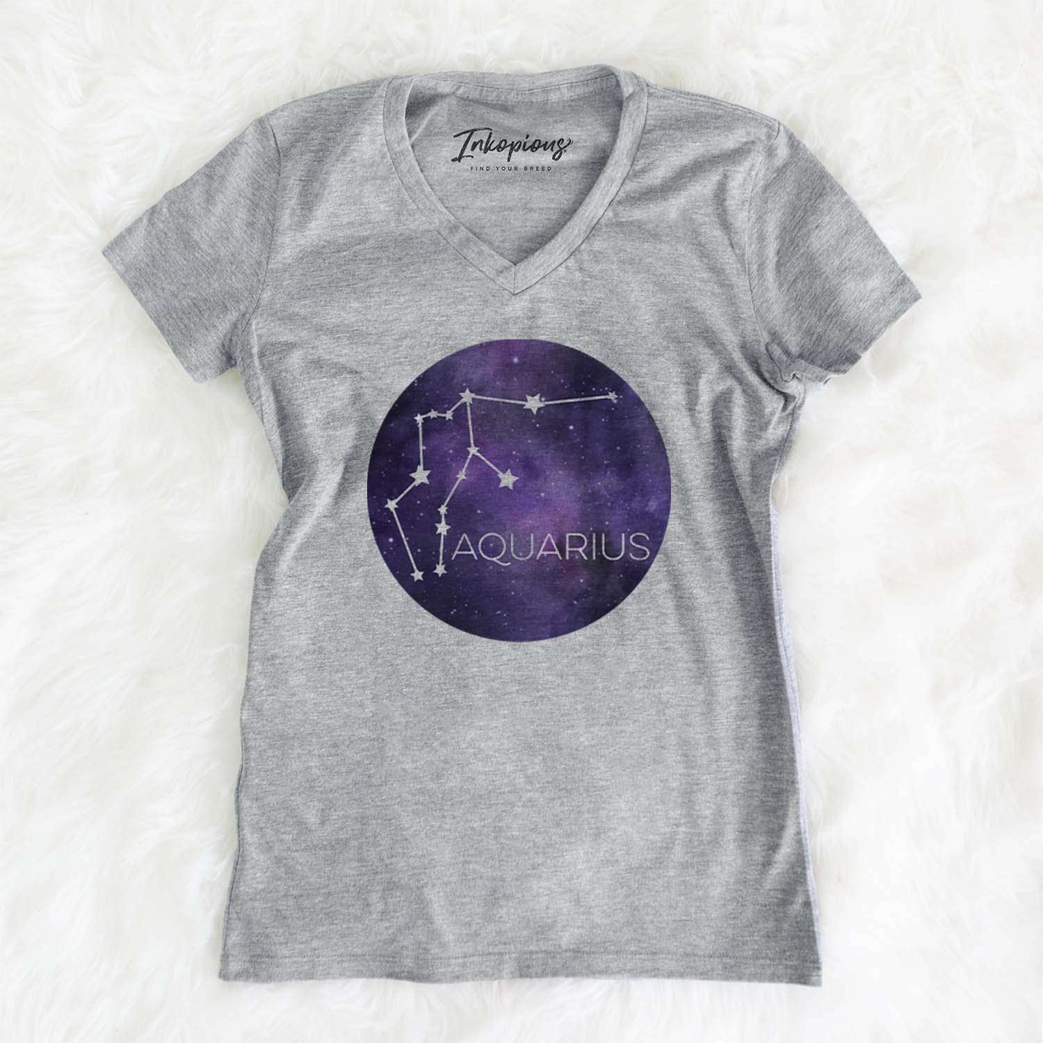Aquarius Stars  - Women's Modern Fit V-neck Shirt