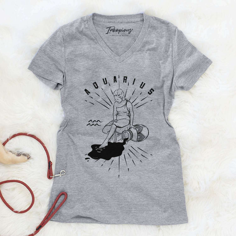 Aquarius  - Women's Modern Fit V-neck Shirt