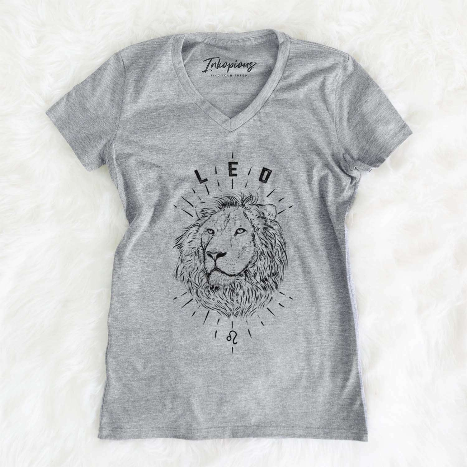 Leo  - Women's Modern Fit V-neck Shirt