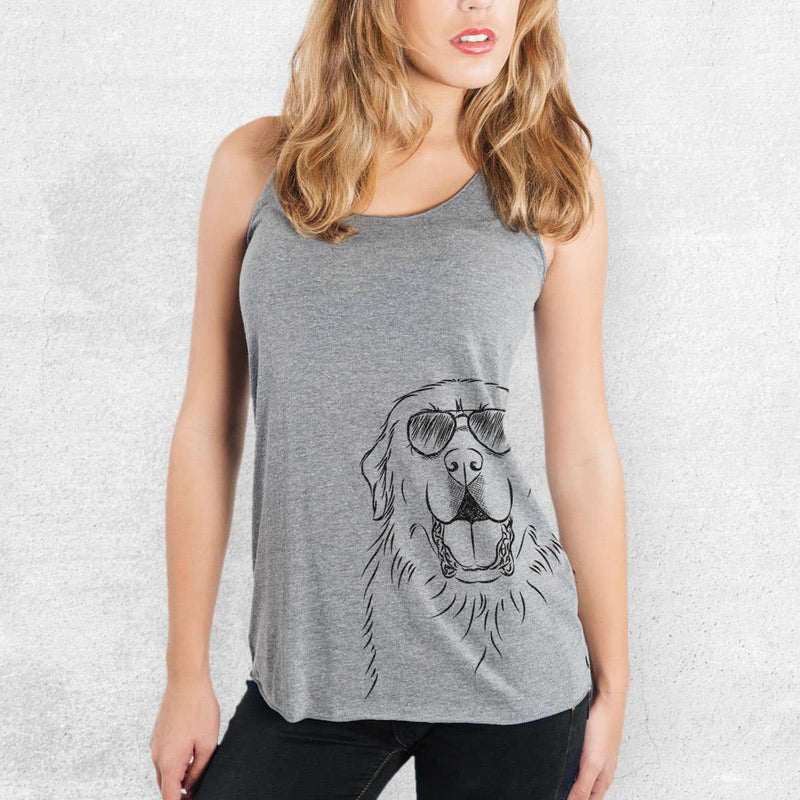 Zeus the Great Pyrenees - Tri-Blend Racerback Tank