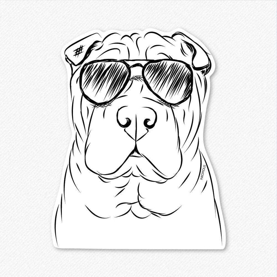 Sharpy the Shar Pei - Decal Sticker