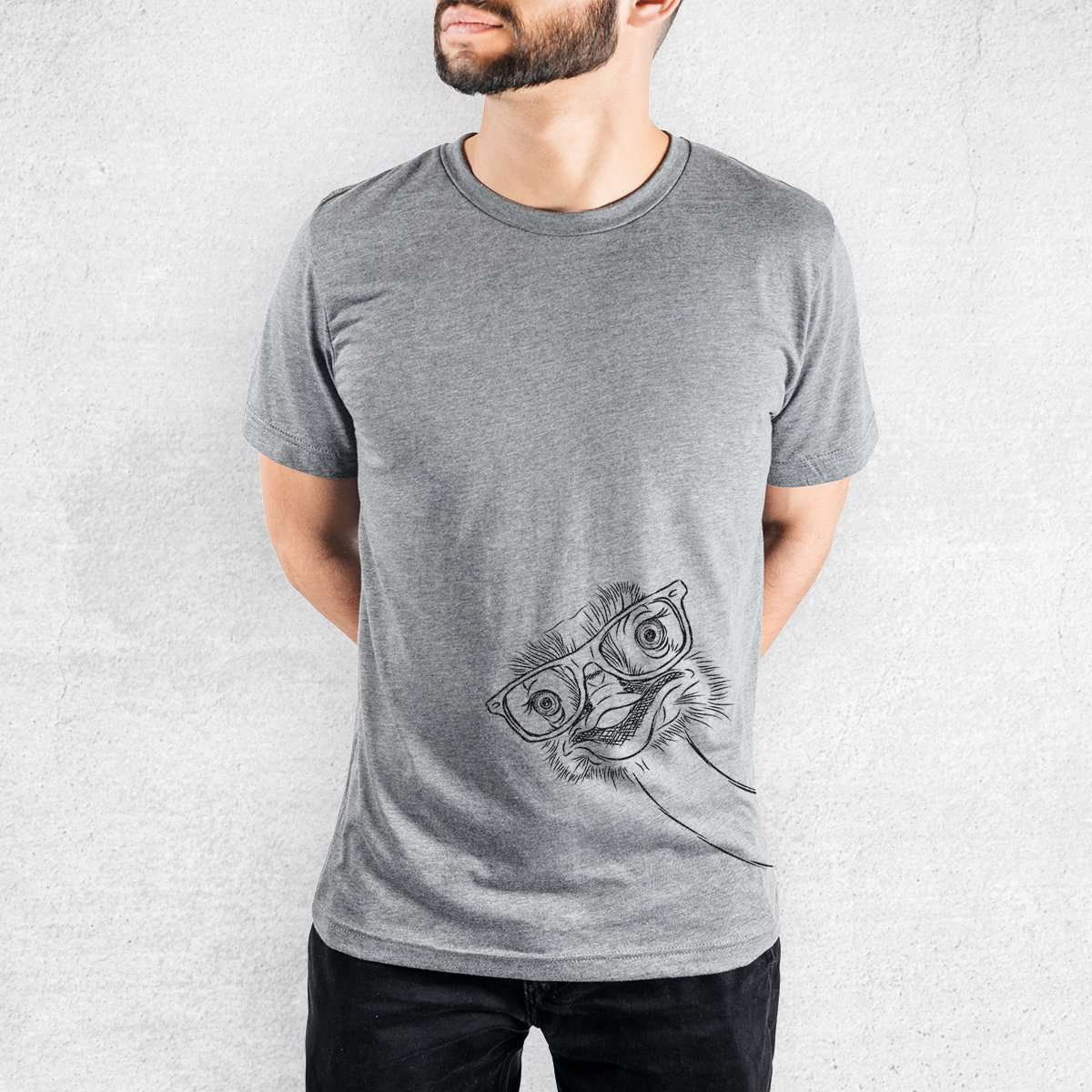 Ozzie the Ostrich - Tri-Blend Unisex Crew Shirt
