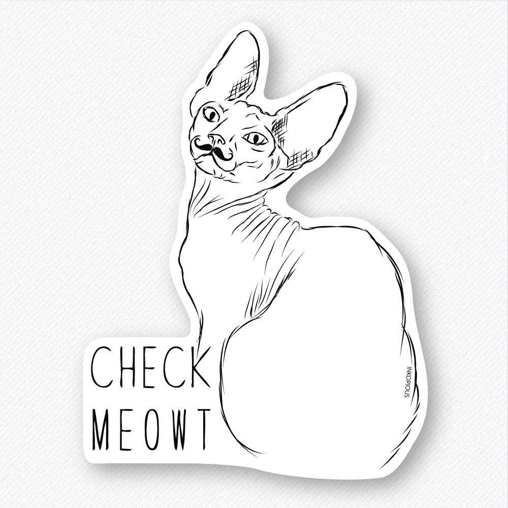 Check Meowt - Decal Sticker