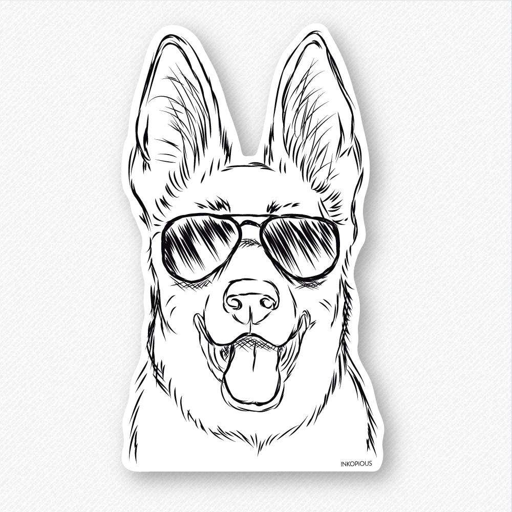 Brutus - German Shepherd - Decal Sticker