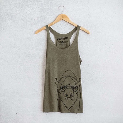Billy the Bison - Tri-Blend Racerback Tank Top