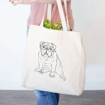 Oliver the Nerd Bulldog - Tote Bag