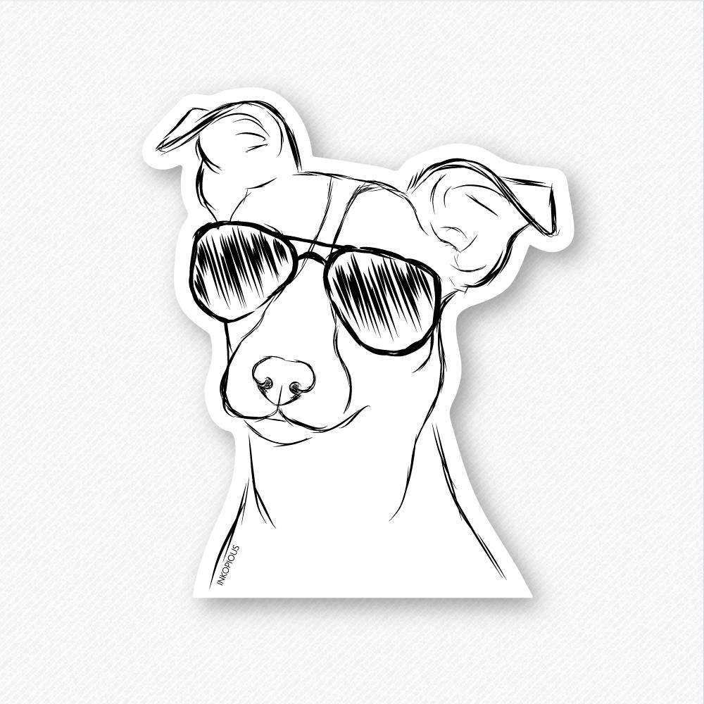 Max - Jack Russell - Decal Sticker