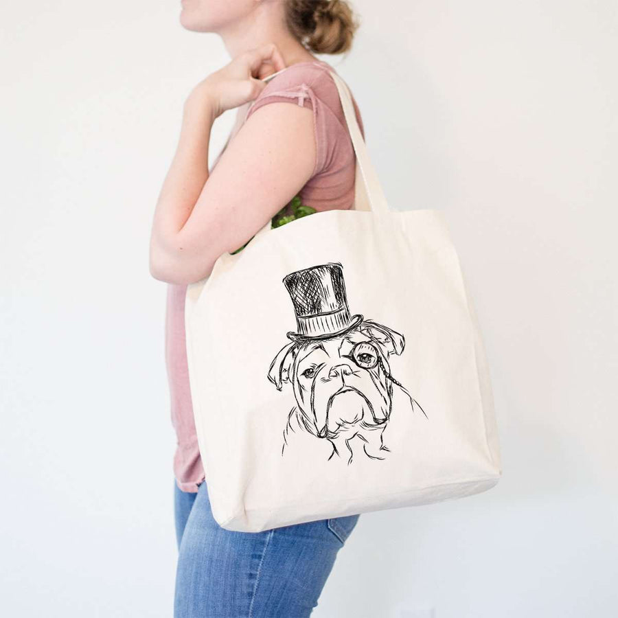 Winston - English Bulldog - Tote Bag