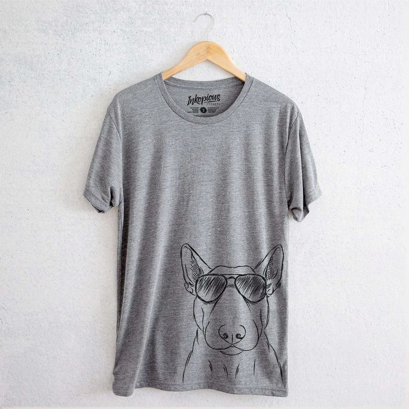 Jett the Bull Terrier - Tri-Blend Unisex Crew Shirt