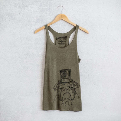 Winston the Bulldog - Tri-Blend Racerback Tank