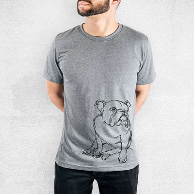 English Bulldog - Doodled - Tri-Blend Unisex Crew