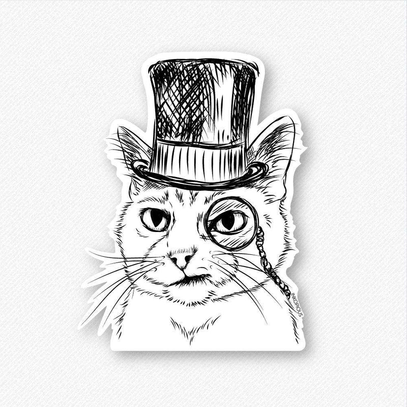 Sir Alfred the Cat - Decal Sticker
