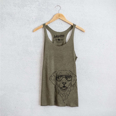 Toby the Golden Retriever - Tri-Blend Racerback Tank Top