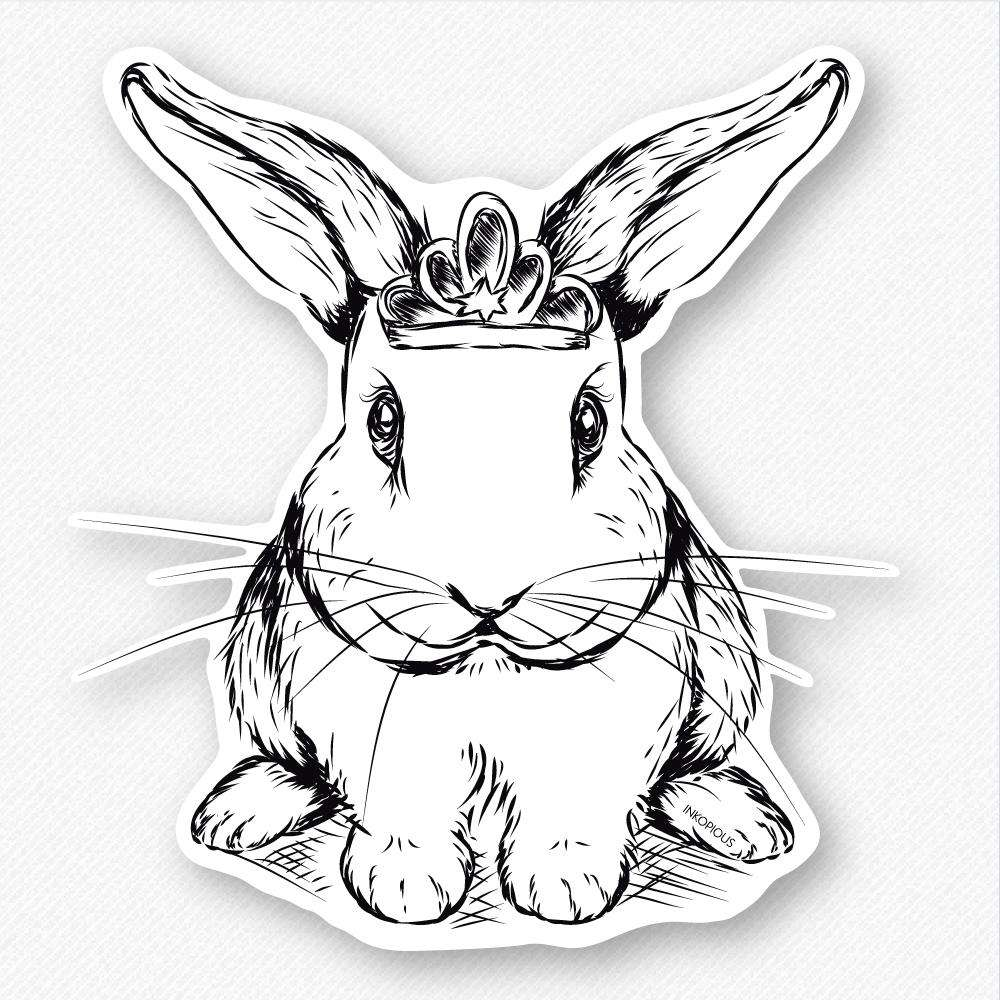 Royal Bunny - Decal Sticker