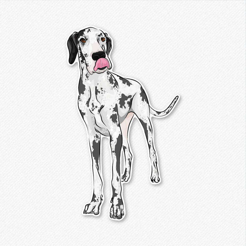 Harlequin - Great Dane - Decal Sticker