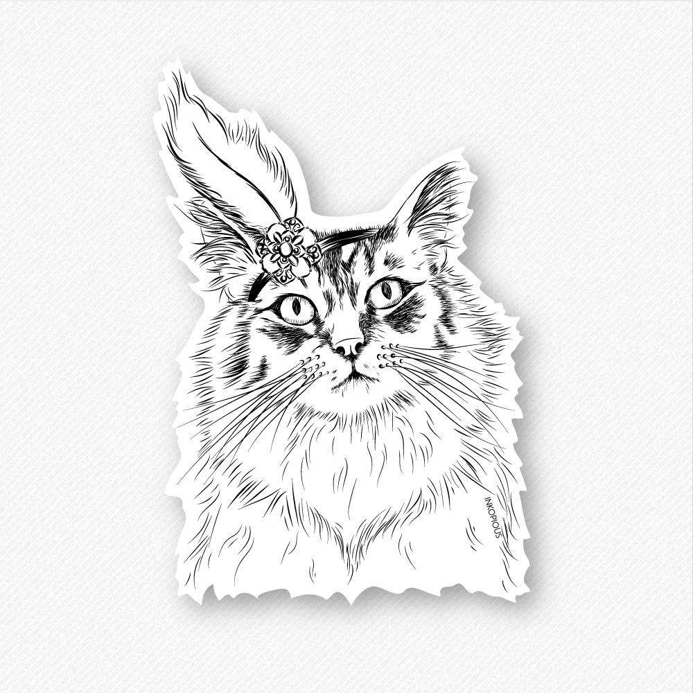 Chloe the Tabby Cat - Decal Sticker