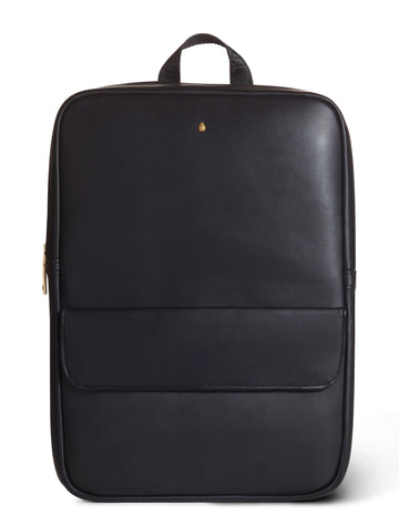 The 'Nairobi' Black Vegan Leather Backpack