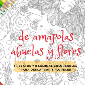 Ebook Coloreable De amapolas...