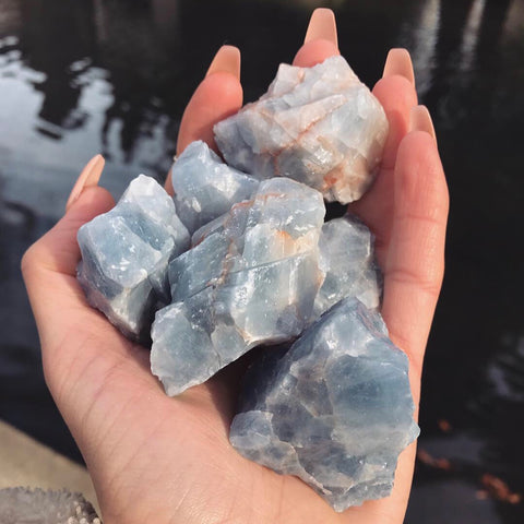 Raw Blue Calcite