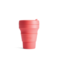Stojo Collapsible Coffee Cup - Coral