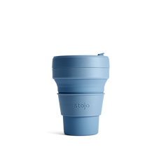 Stojo Collapsible Coffee Cup - Steel Blue
