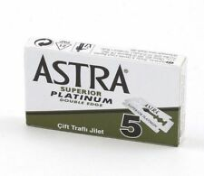 Astra Superior Platinum Double Edge Safety Razor Blades - 5pcs