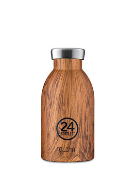 24 Clima Insulated Bottles - Sequoia Wood