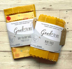 Lunch/ Sandwich Pack - Set of 2 - Beeswax Wrap  by Good To Bee