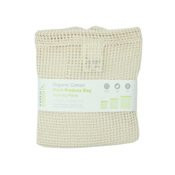 Organic Cotton Mesh Produce Bag -Set of 3