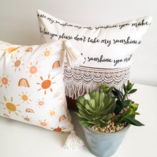 Load image into Gallery viewer, Playroom Pillow - Sunshine & Rainbows
