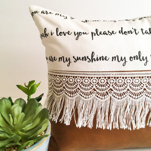 Playroom Pillow - You Are My Sunshine