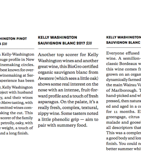 Metro Top 50 wines of 2020 - 3 of our Organic Wines Make it in...