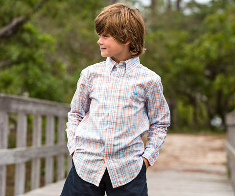 Youth Bainbridge Check Dress Shirt