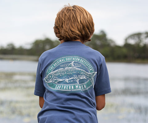 Youth Engravings Tee - Tarpon