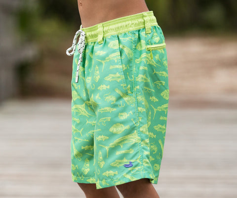 Youth Dockside Swim Trunk - Offshore