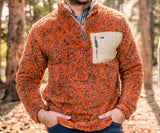 Burnt Orange and Dark Green | Blue Ridge Sherpa Pullover